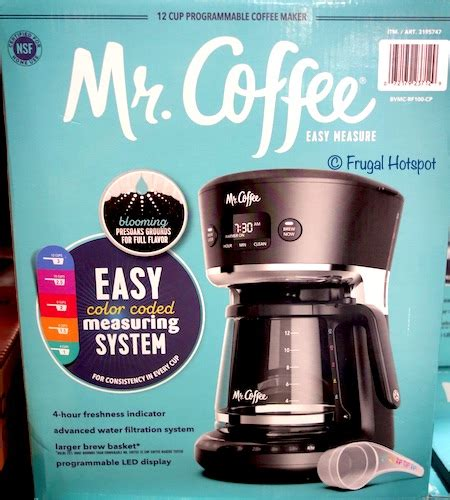 How many scoops of coffee per cup? Costco Sale - Mr. Coffee 12-Cup Easy Measure Brewer $29.99 | Frugal Hotspot