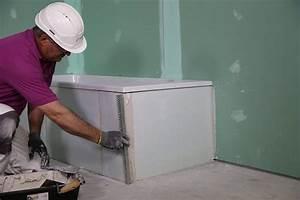 Habillage De Baignoire : habillage de baignoire en carreaux de platre siniat france ~ Premium-room.com Idées de Décoration