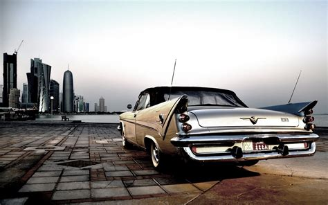Chrysler Desoto City Old Car Photo Hd Wallpaper Wallpaper
