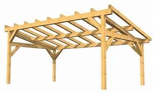 exemple de charpente auvent ou preau a faible pente les With exceptional plan maison en pente 10 construire un carport bois