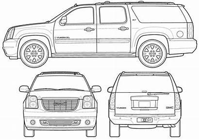 Gmc Yukon Blueprints Slt Suv Blueprint 2009