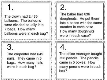 division word problems    digit divided   digit
