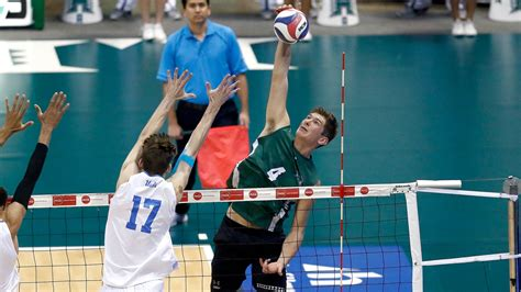 uh mens volleyball earns series sweep ucsb honolulu
