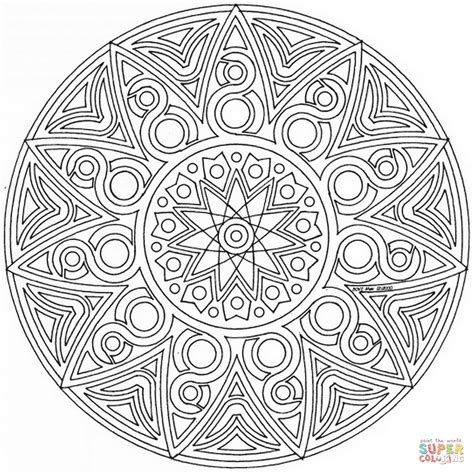 celtic mandala coloring page  printable coloring pages