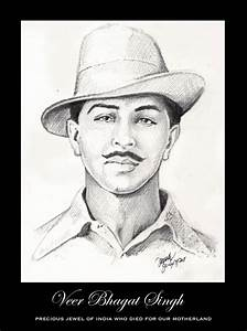Bhagat Singh Sketch Wallpaper Ialoveniinfo