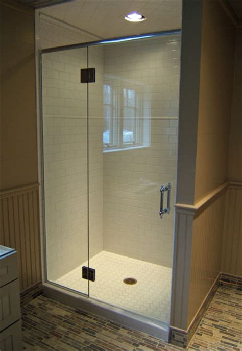 frameless shower doors headers