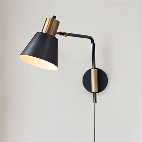 west elm rejuvenation cylinder sconce adjustable