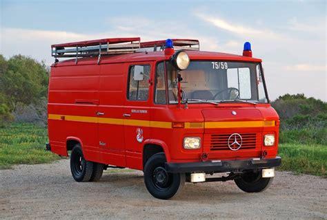 mercedes benz   auxiliary fire van german cars