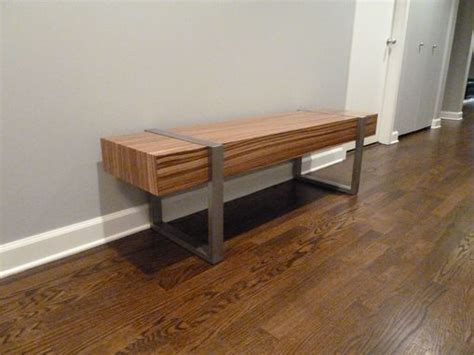 Interior Wood Bench by Made Welded Modern Interior Zebra Wood Bench Seat By