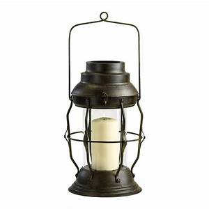 Willow Antique Rustic Cottage Style Oil Lamp Candle ...