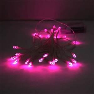 Guirlande Led Pile : guirlande lumineuse piles 40 leds roses deco lumineuse ~ Teatrodelosmanantiales.com Idées de Décoration