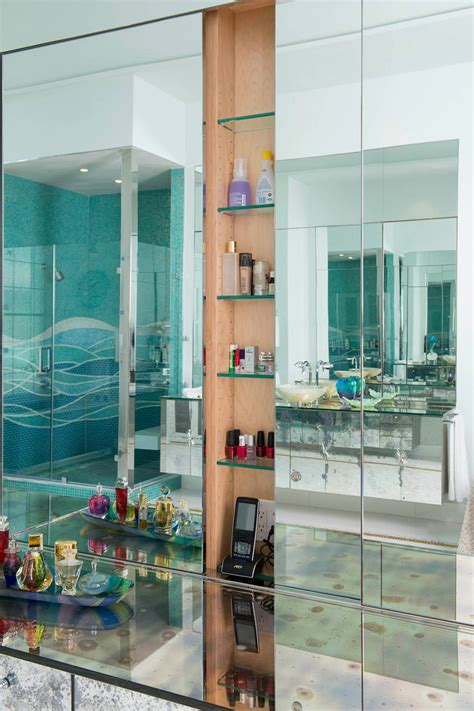 bathroom glass shelves designs ideas design trends
