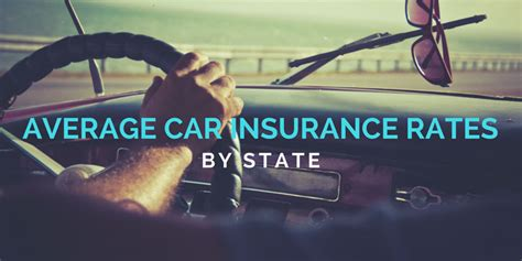 Average Car Insurance Rates By State 2018