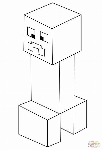 Minecraft Creeper Ausmalbilder Coloring Enderman Dessin Zum