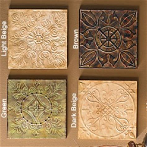 12 quot hammered tin wall tile distressed decorative plaque ebay