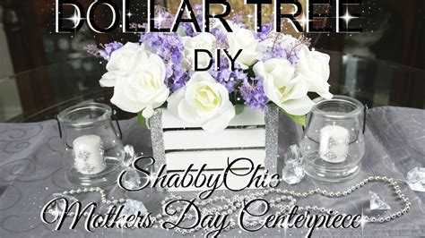 diy dollar tree shabby chic mothers day centerpiece part
