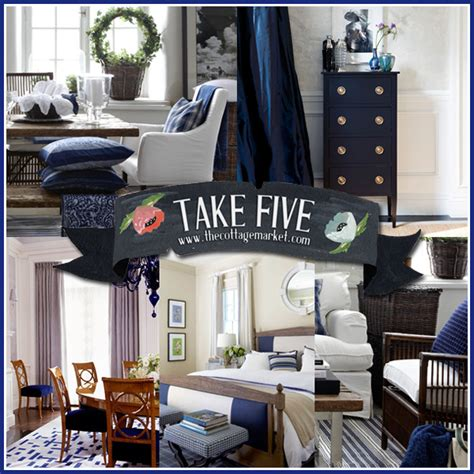 Navy Blue Room Decor - take five the color navy in home decor the cottage market