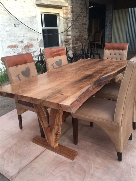 real wood kitchen table yosemite live edge table acacia solid wood solid wood