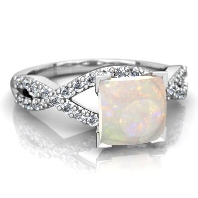white opal engagement rings opal twist ring r26406sq wopal