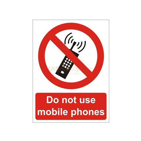 do not use mobile phones sign mobile phone signs work
