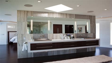 bathroom vanity with lights modern master bathroom