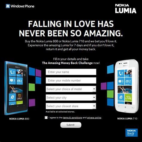 nokia offers amazing money back challenge in india guarantees money back for lumia 800 710
