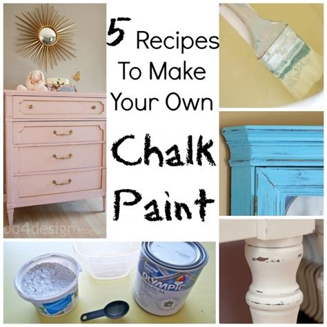 5 recipes to make your own chalk paint craft gossip