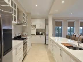 modern galley kitchen ideas modern galley kitchen design stainless steel kitchen photo 146752