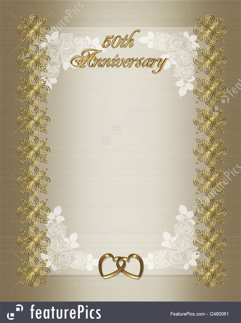 illustration   wedding anniversary invitation template
