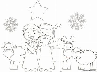 Nativity Coloring Pages Printable Sheet