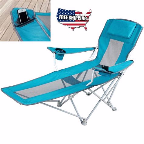 reclining folding chair with footrest reclining folding cing chair with footrest stool