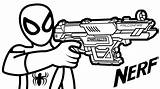 Nerf Gun Coloring Spiderman Colouring Drawing Boys Hold Guns Rifle Printable Sheet Sheets Coloringpagesfortoddlers Army Pistols Inspiration Gusto Unique Getdrawings sketch template