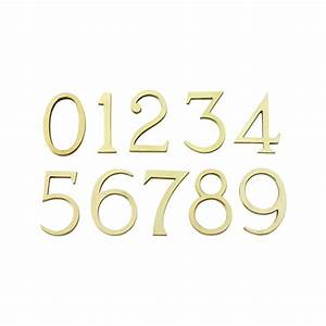 t18 pb 6quot numerals 0 to 9 polished brass numbers and With brass numbers and letters
