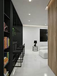 modern interior designer Black And White Interior Design Ideas: Modern Apartment by ...