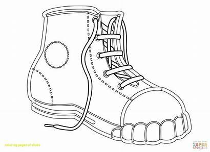 Coloring Shoe Printable Converse Pages Shoes Tennis