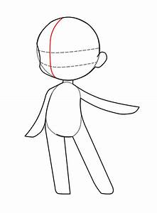 chibi body base coloring pages With chibi body template