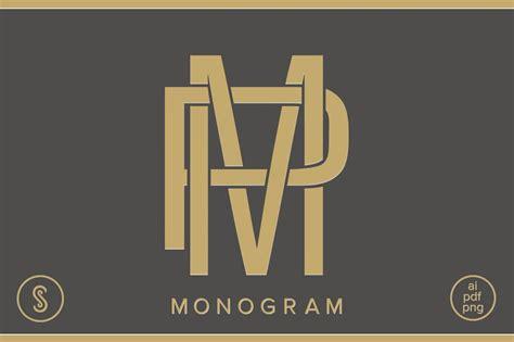 mp monogram pm monogram logo templates creative market