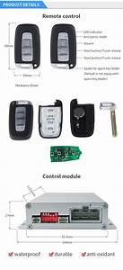Smart Pke Keyless Entry System Push Button Switch Remote