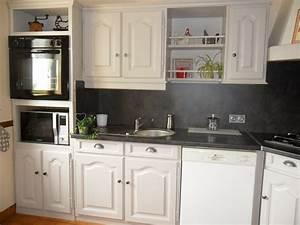 davausnet modele cuisine gris et blanc avec des idees With idee deco cuisine avec cuisine blanc gris