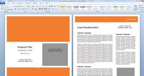 modern proposal template  microsoft word powerpoint