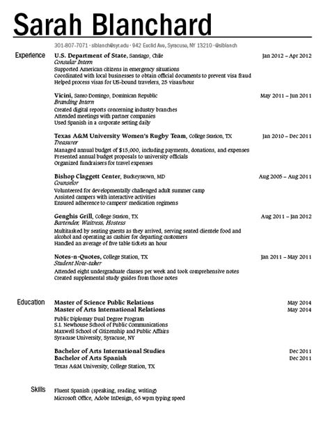 Federal Style Resume by Resume Blanchard Gra617