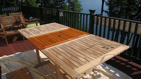 restoring a weathered teak table ask the builder