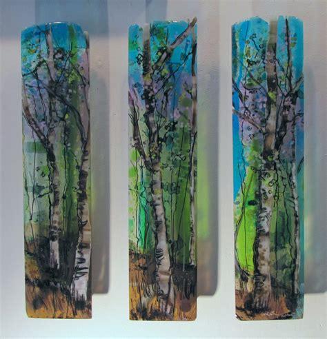 three part harmony by alice benvie gebhart art glass wall art artful home