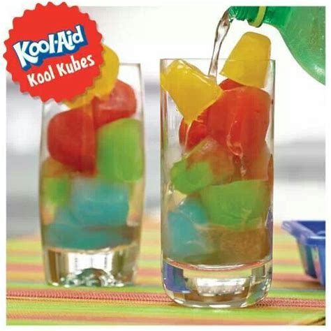 Make Kool Aid Ice Cubes, Pour Sprite V Over Them, A Fun