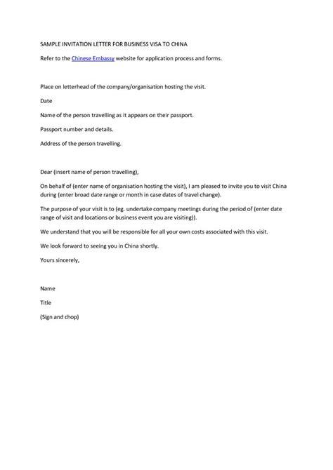 sample invitation letter  consulate  business visa
