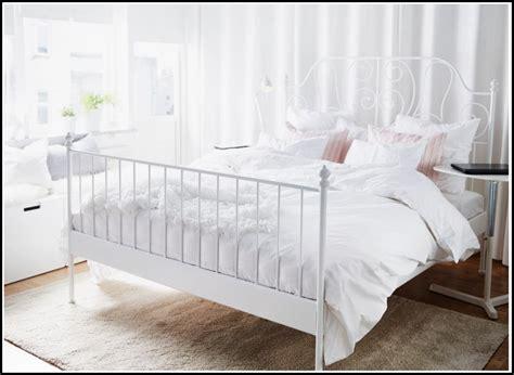 Ikea Bett Weis Metall  Betten  House Und Dekor Galerie