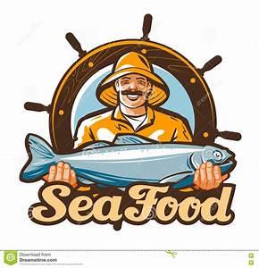 Seafood Vector Logo. Fishing, Fresh Fish Icon Stock Vector ...