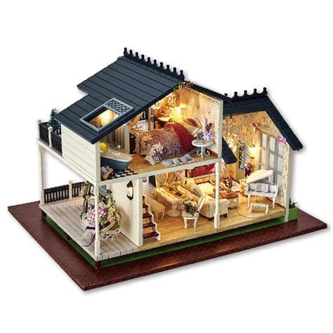 miniature houses diy miniature wooden doll house furniture kits toys