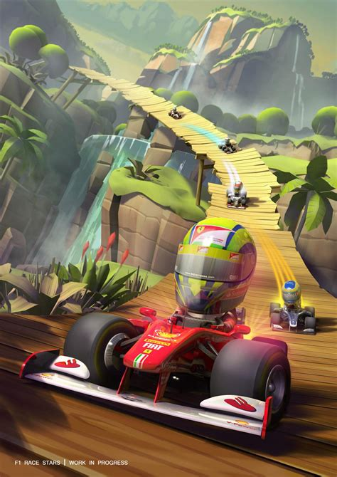 Print in black and white. F1 Race Stars gameplay trailer and screenshots