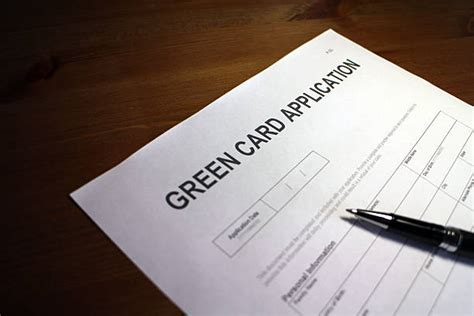 She submits the application for herself and includes everyone in her immediate family. Green Card Application Form Immigration Stock Photos, Pictures & Royalty-Free Images - iStock